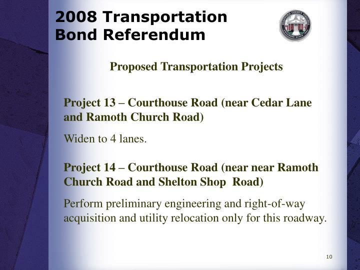 2008 Transportation