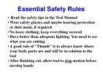 essential safety rules