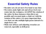 essential safety rules24
