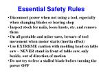 essential safety rules25