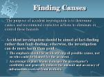 finding causes