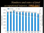 numbers and rates of fatal occupational injuries 1992 2002