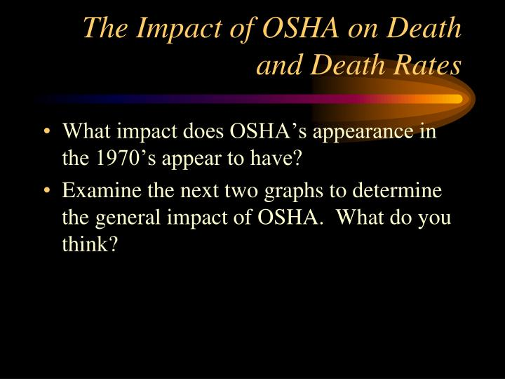 The Impact of OSHA on Death and Death Rates