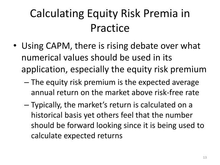 Calculating Equity
