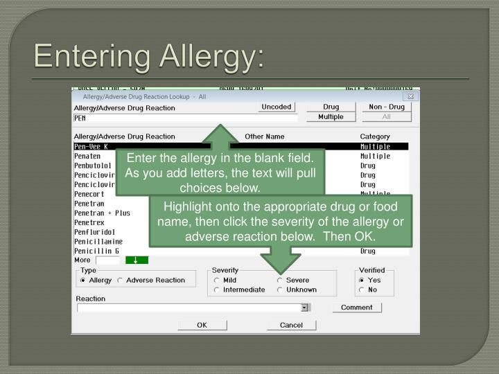 Entering Allergy: