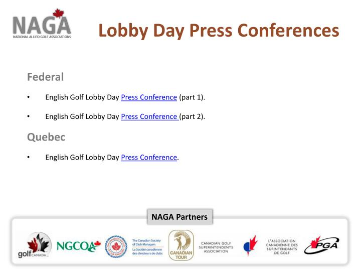 Lobby Day Press Conferences