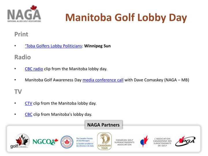 Manitoba Golf Lobby Day