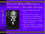 from the birth of microbes to their death alexander fleming
