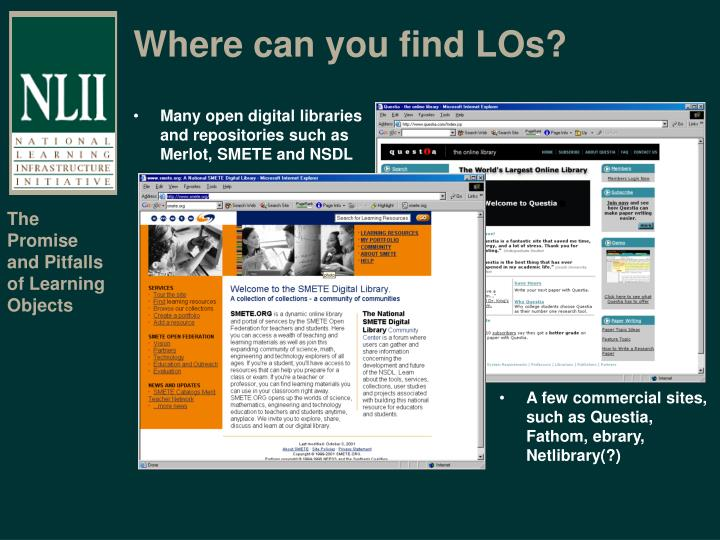 Where can you find LOs?