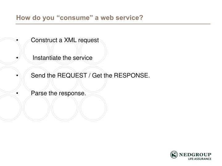 Construct a XML request