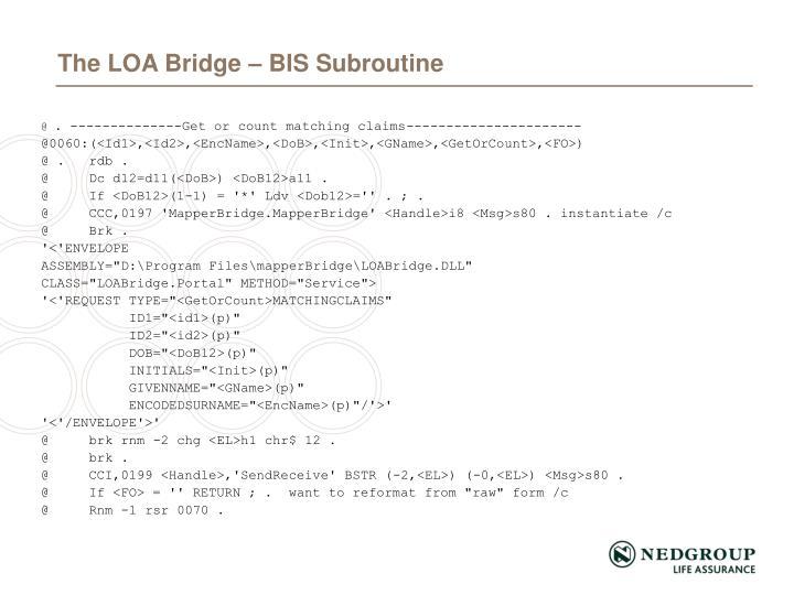 The LOA Bridge