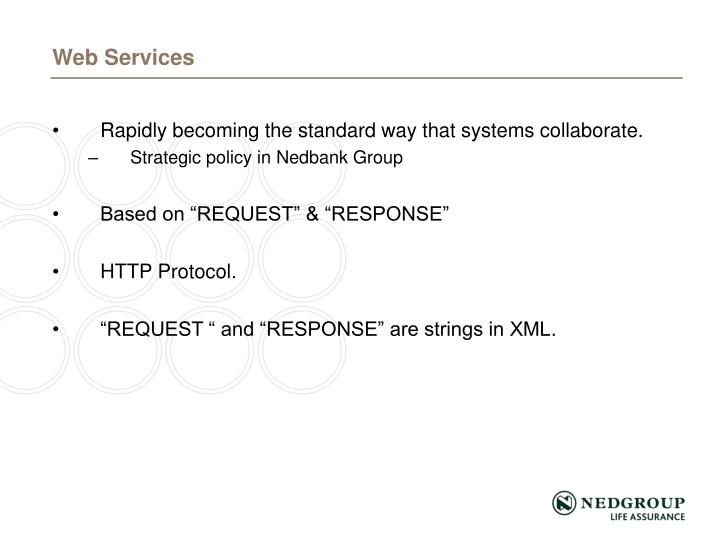 Rapidly becoming the standard way that systems collaborate.