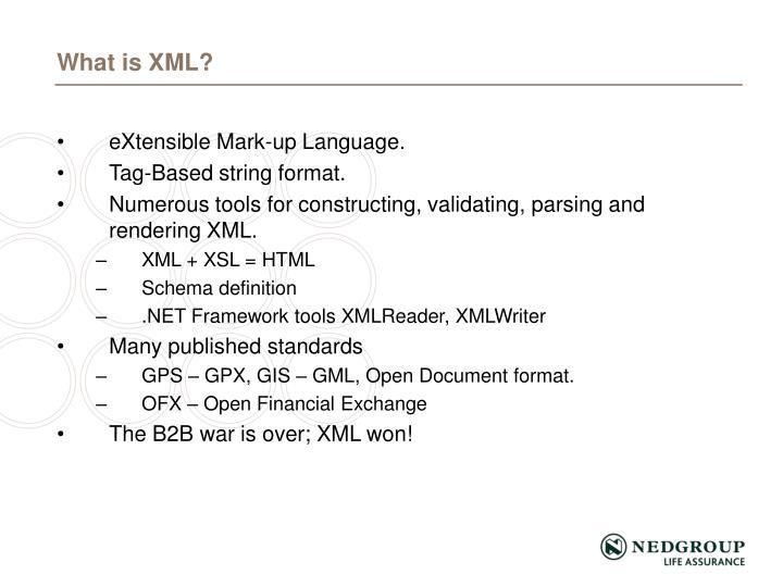 eXtensible Mark-up Language.