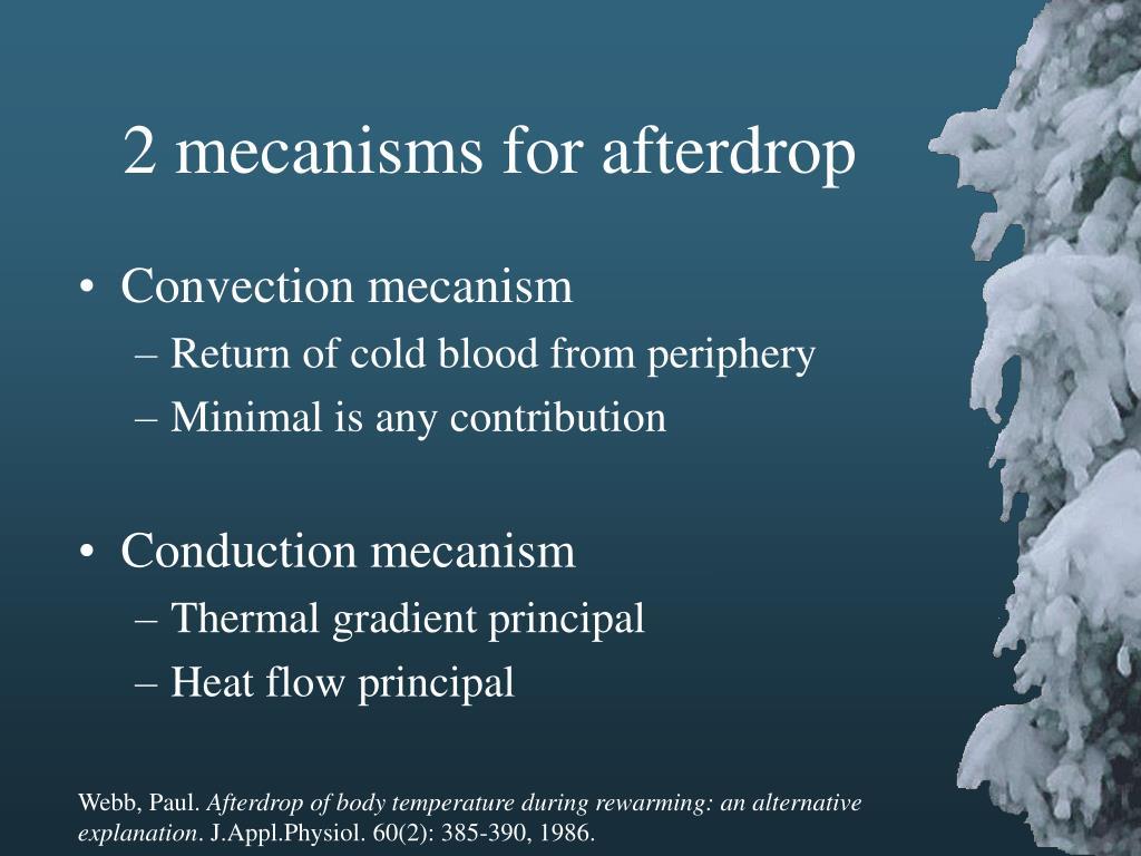 2 mecanisms for afterdrop