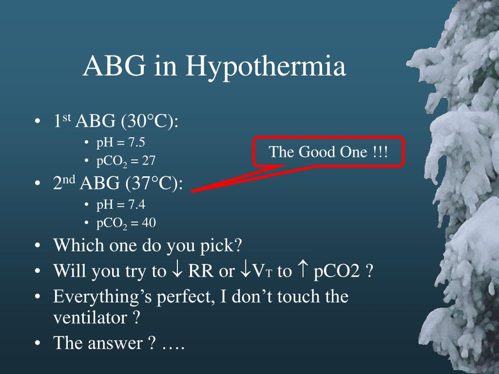ABG in Hypothermia