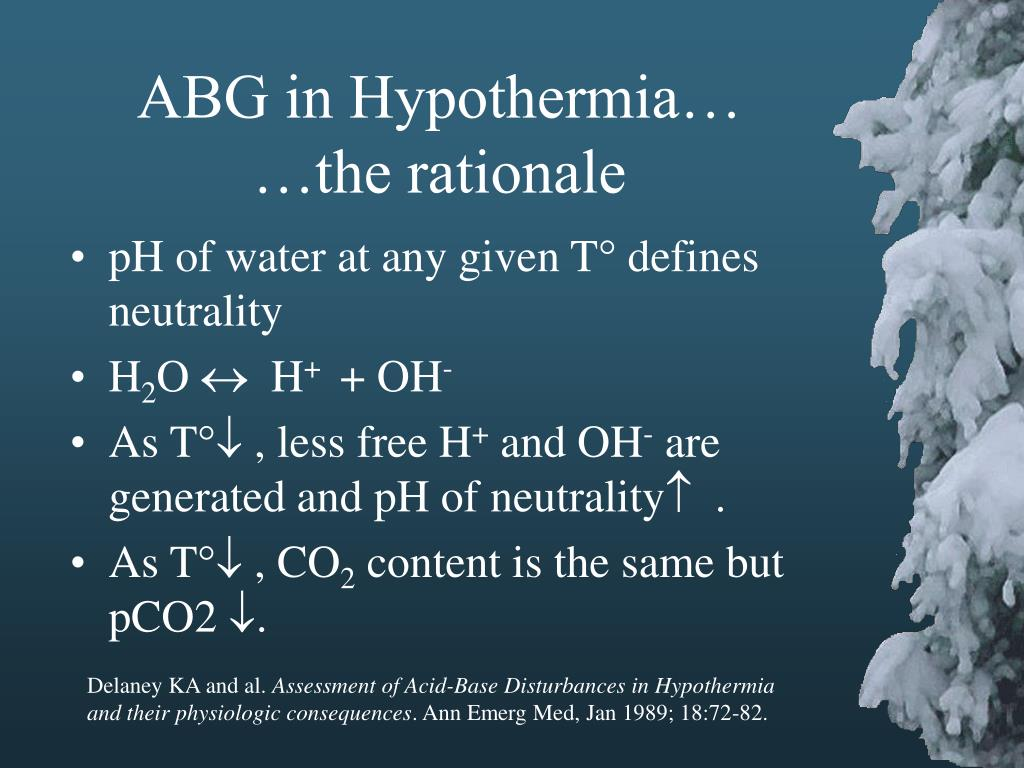 ABG in Hypothermia…