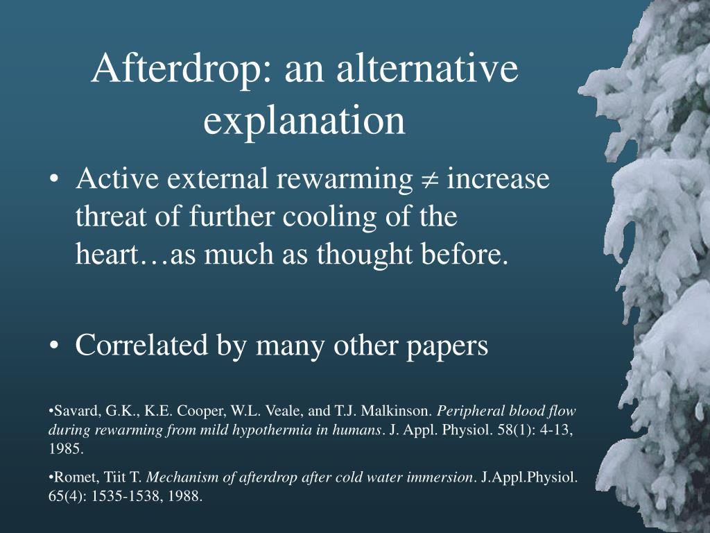 Afterdrop: an alternative explanation