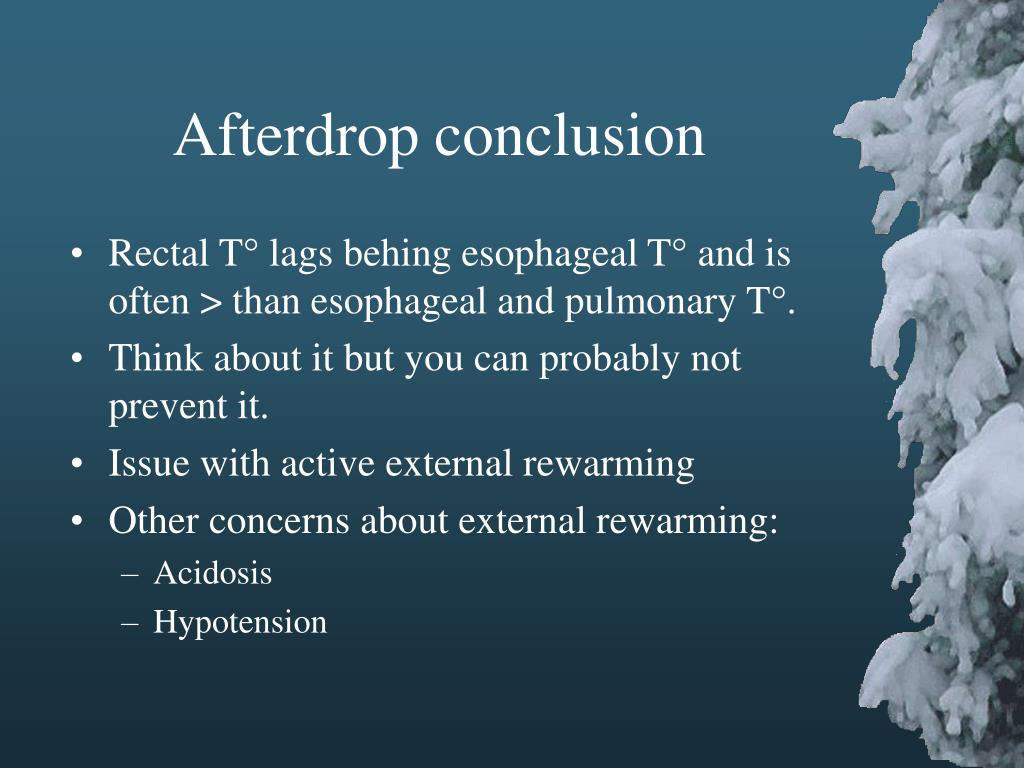 Afterdrop conclusion