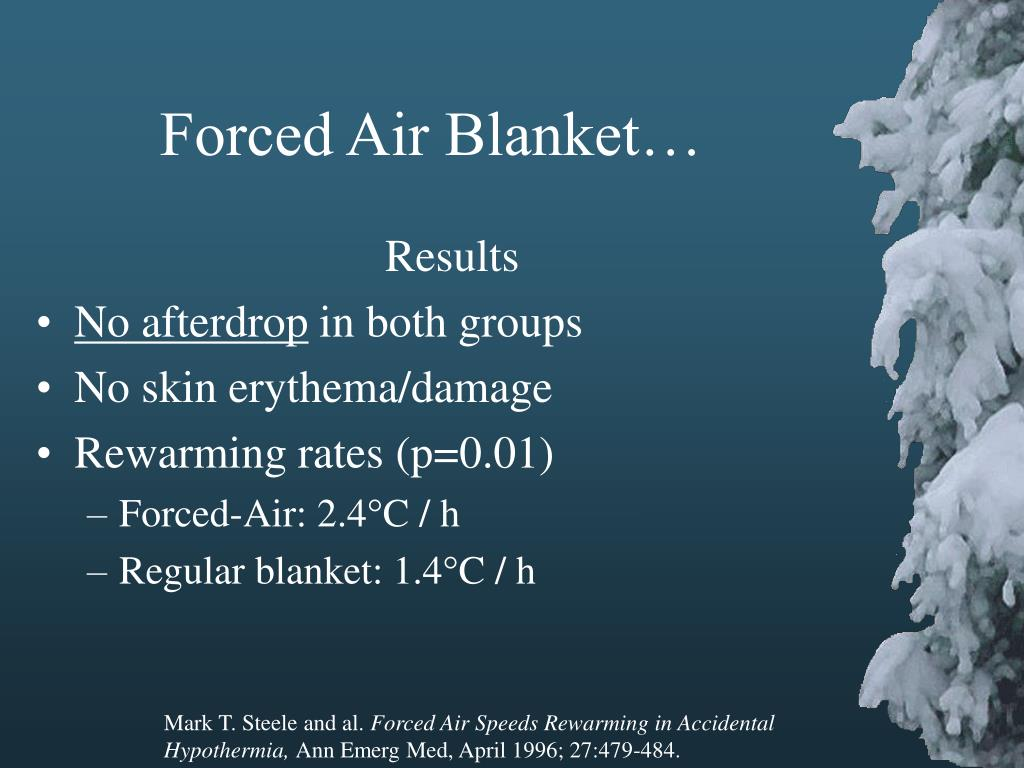 Forced Air Blanket…
