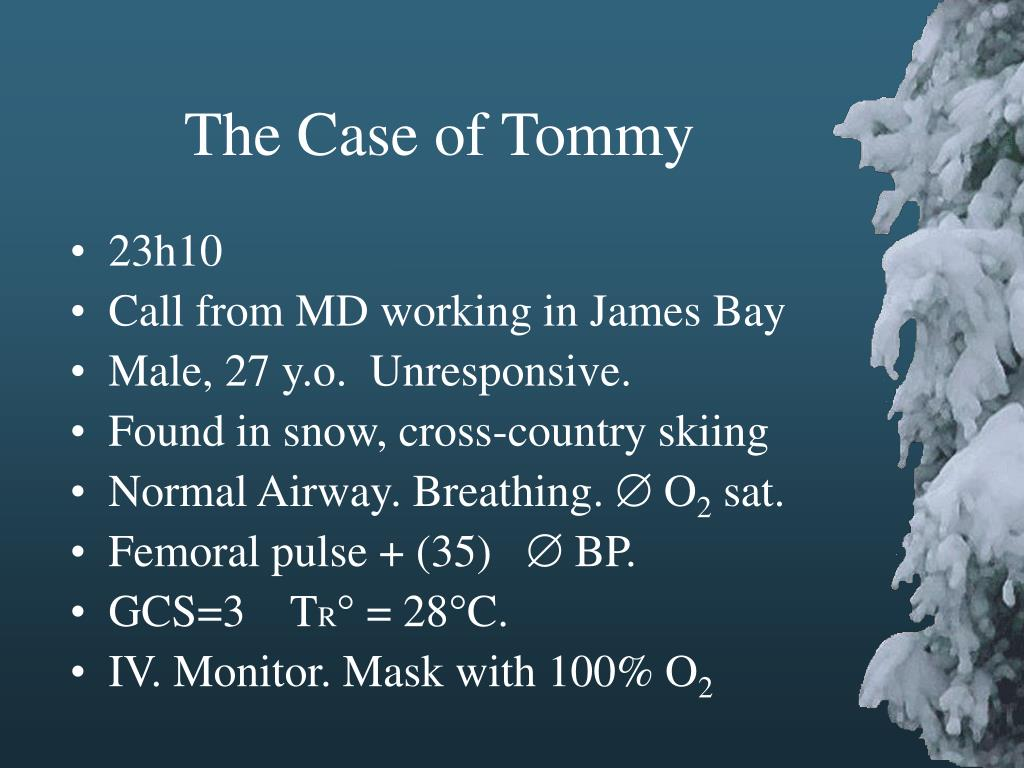 The Case of Tommy