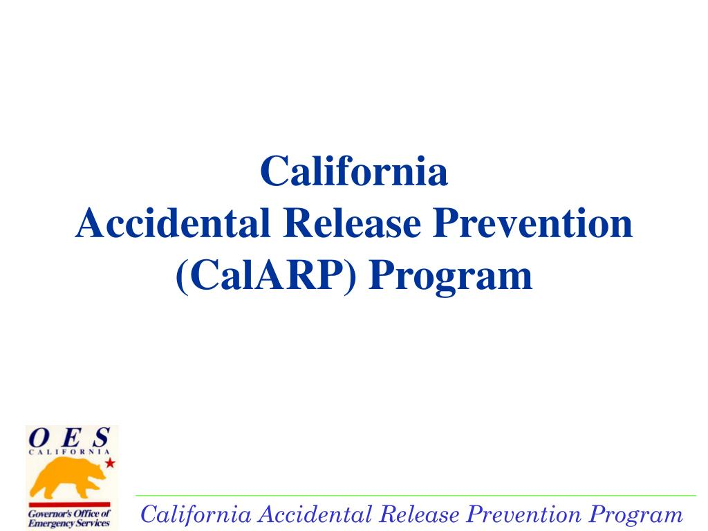california accidental release prevention calarp program l.