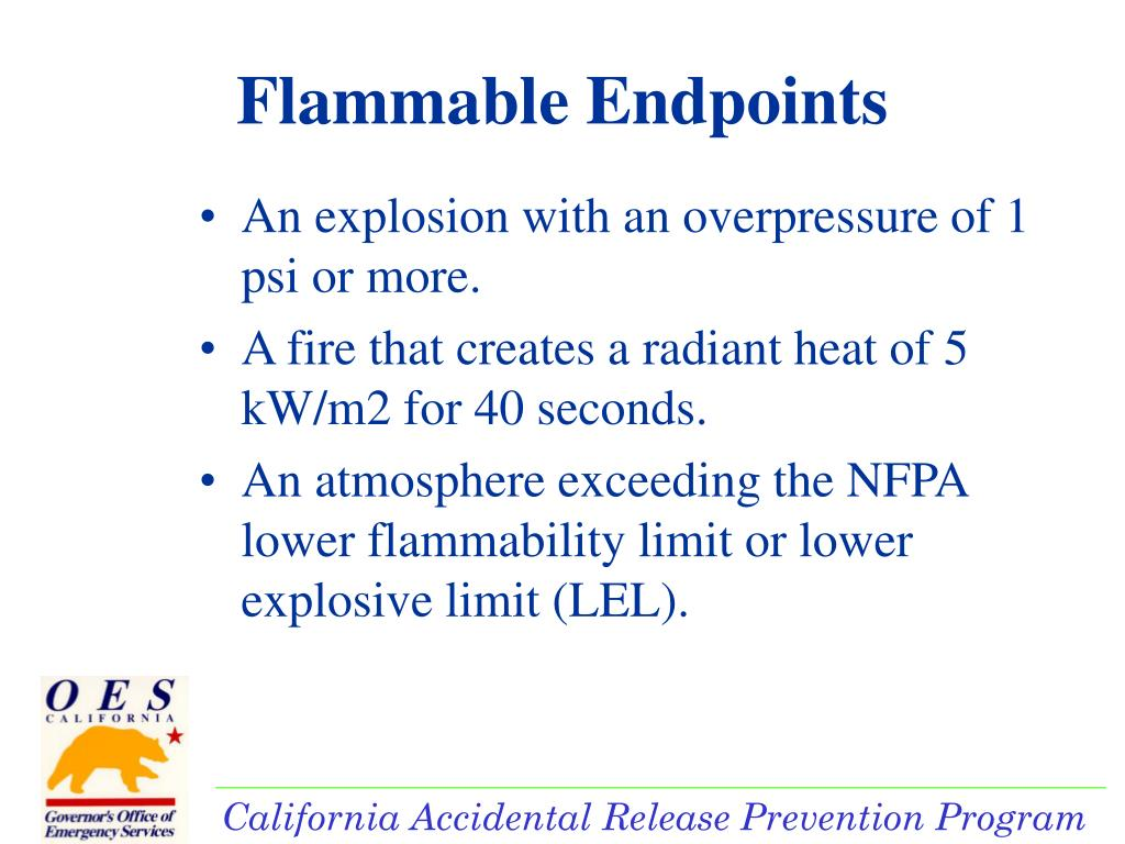 Flammable Endpoints
