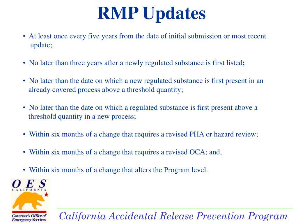 RMP Updates