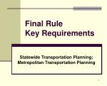 final rule key requirements