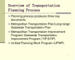 overview of transportation planning process3