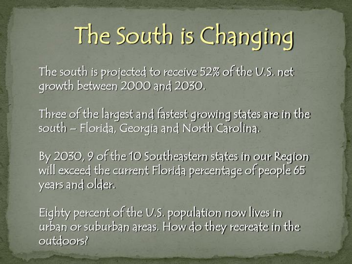 The South is Changing
