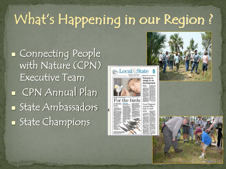 What's Happening in our Region ?