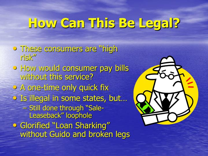 Cash For Car Loans Illegal