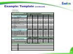 example template continued