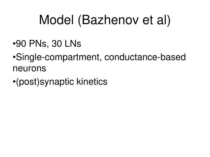 Model (Bazhenov et al)