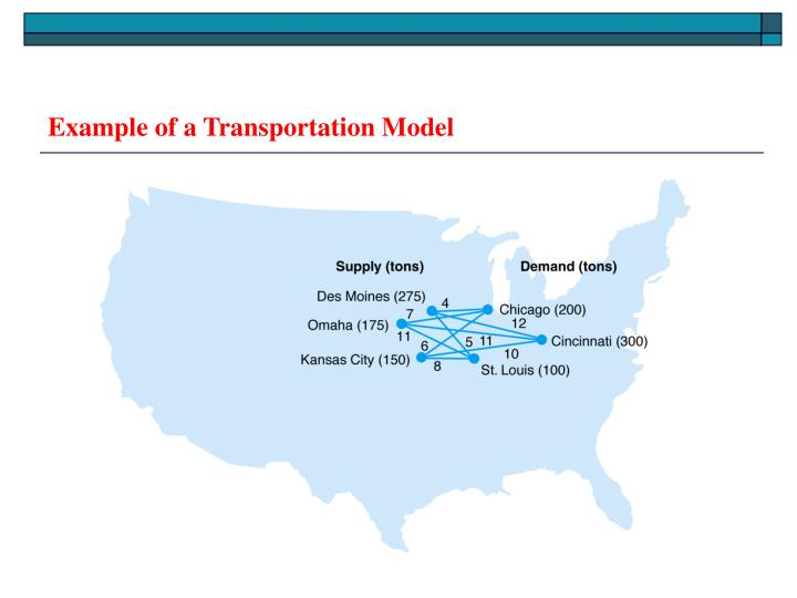 Example of a Transportation Model