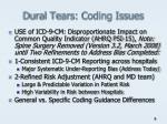 dural tears coding issues