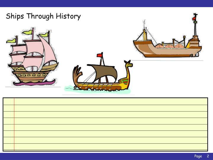Ships through history