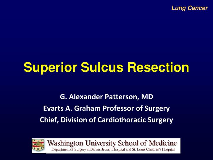 Superior sulcus resection