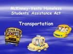 mckinney vento homeless students assistance act