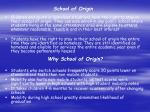school of origin