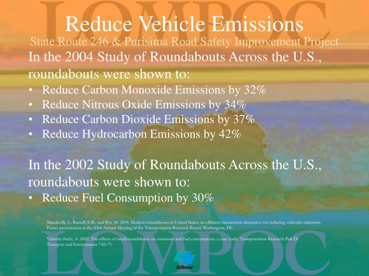 Reduce Vehicle Emissions