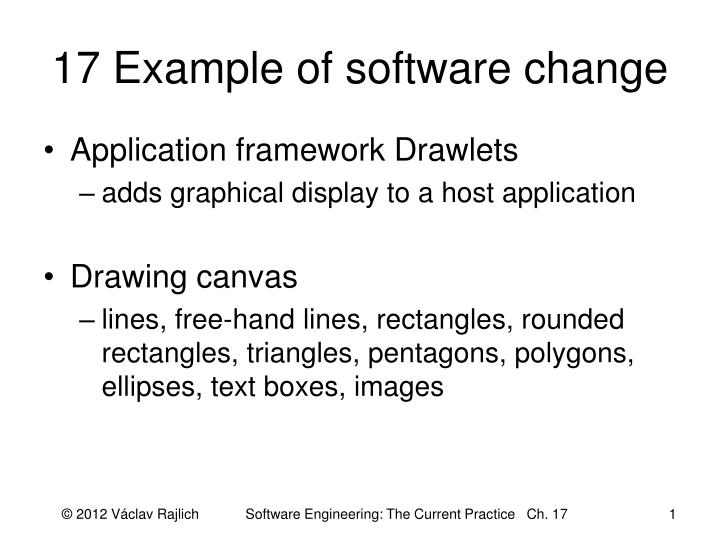 17 example of software change n.