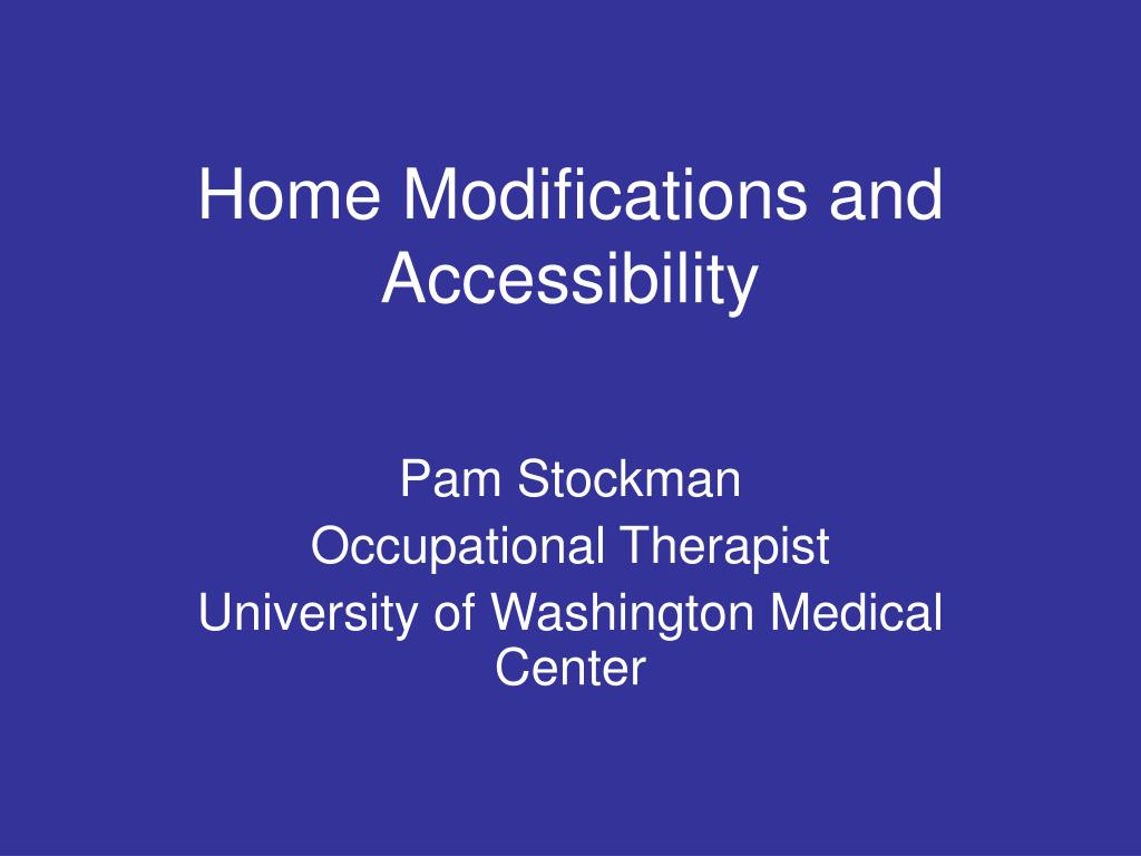 home modifications and accessibility