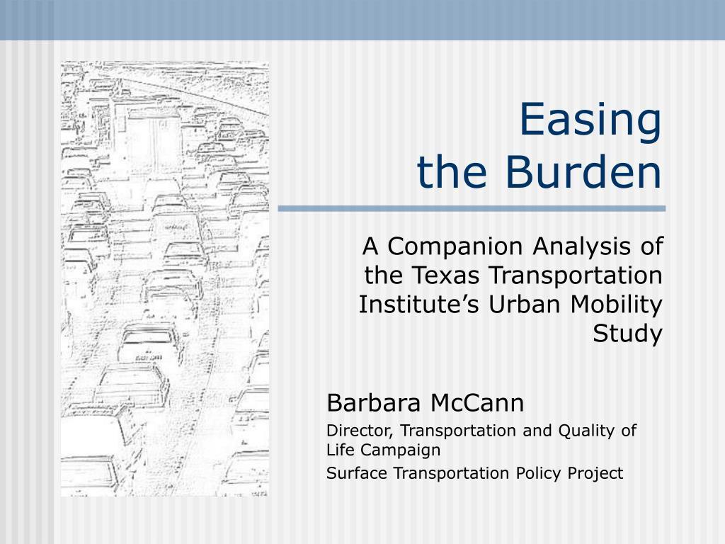easing the burden l.