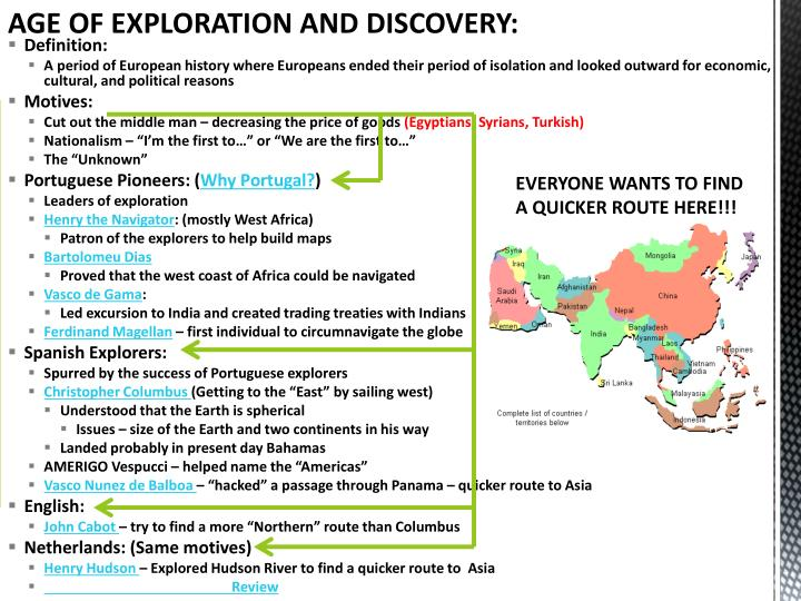 Age Of Exploration Ppt: Age Of Exploration And Discovery PowerPoint