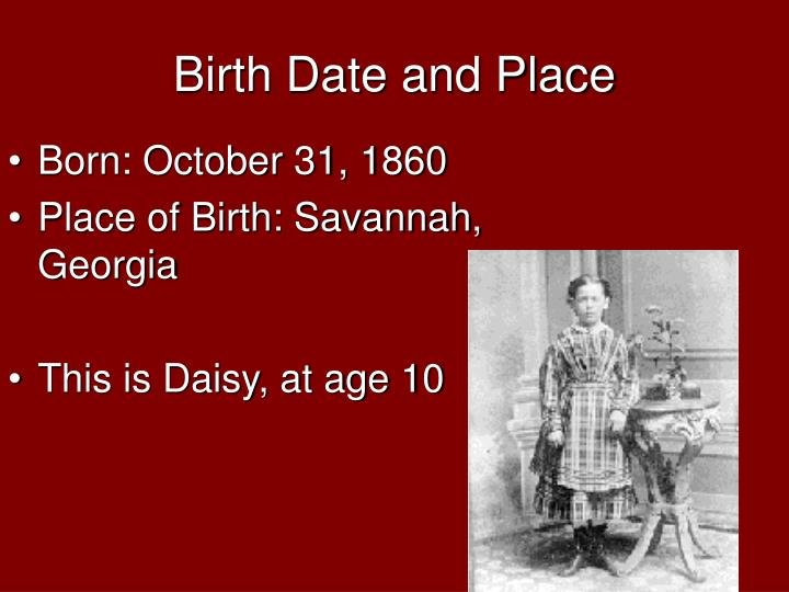 Birth date and place