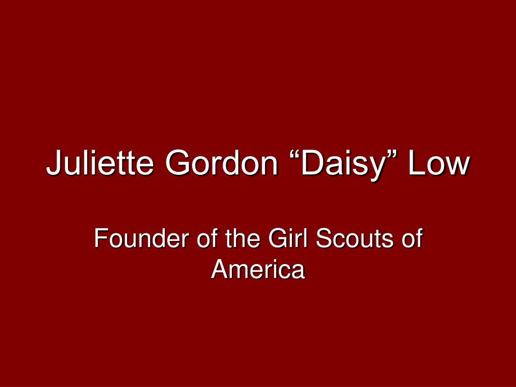 juliette gordon daisy low l.