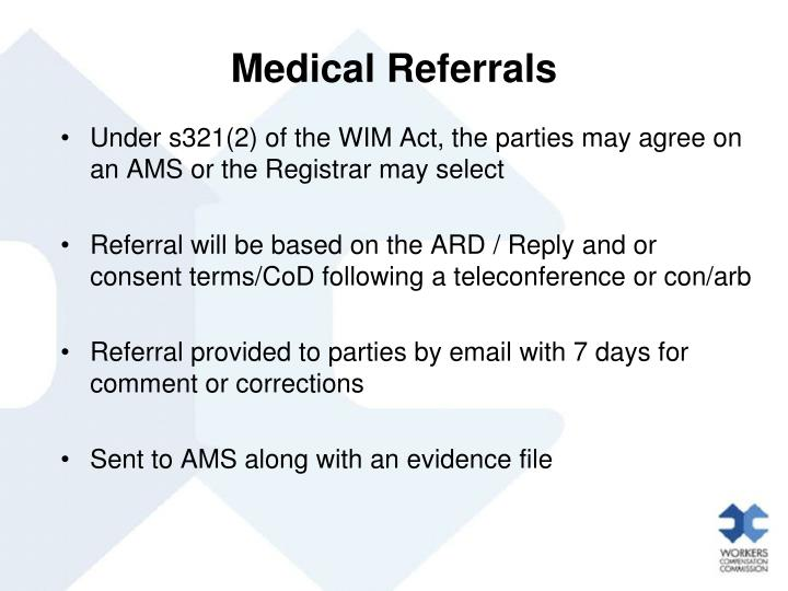 Medical Referrals