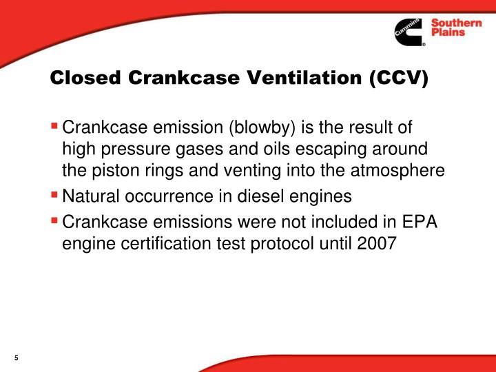 Closed Crankcase Ventilation (CCV)