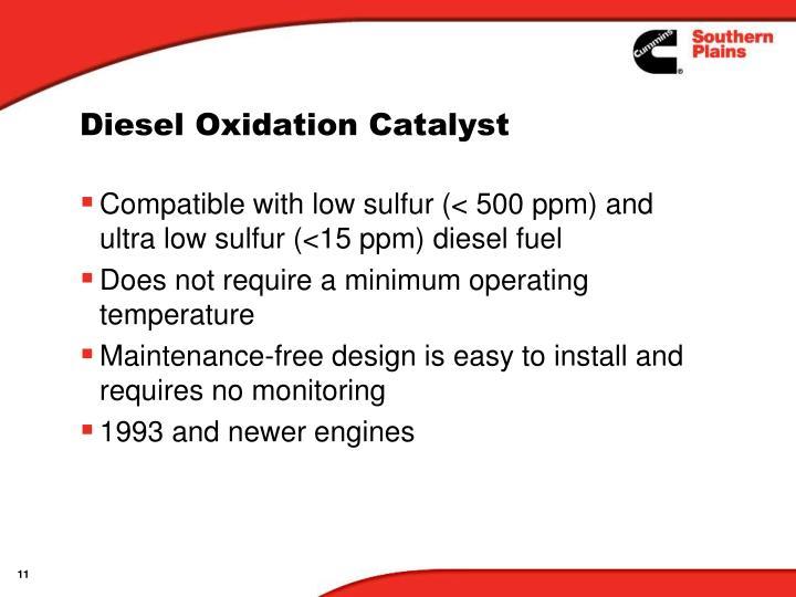 Diesel Oxidation Catalyst